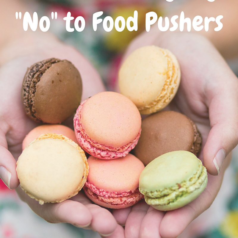 How to Politely Say No to Food Pushers